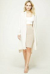 Forever 21 Contemporary Longline Jacket Beige