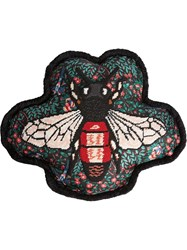 Gucci Bee Embroidered Cushion Black