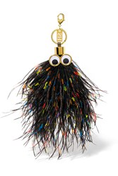 Sophie Hulme George Feather Keychain Black