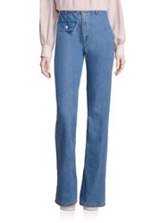 See By Chloe High Waist Flared Jeans Washed Indigo