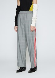 Calvin Klein 205W39nyc 'S Striped Trouser Pants In Grey Red Size 38 100 Wool Grey Red