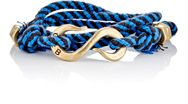 Giles And Brother Giles And Brother Rope Wrap Bracelet With S Hook Blue