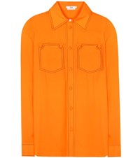 Edun Silk Shirt Orange