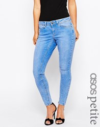 Asos Petite Whitby Skinny Low Rise Jeans In In Azure Light Stonewash Light Stone Wash