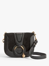 See By Chloe Small Hana Suede Leather Satchel Bag Black