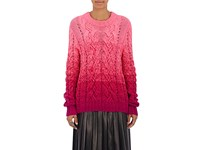 Spencer Vladimir Women's Ombre Cable Knit Cashmere Sweater Pink