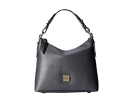 Dooney And Bourke Saffiano Hobo Dark Grey W Self Trim Hobo Handbags Gray