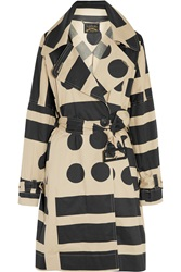 Vivienne Westwood Kabuki Printed Cotton Blend Twill Trench Coat Nude