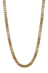 Betsey Johnson Crystal Rope Magnetic Necklace Blue