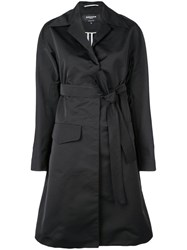 Rochas Belted Trench Coat Black