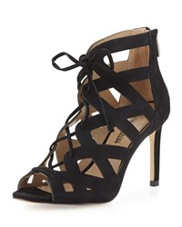 Neiman Marcus Collee Laser Cut Lace Up Pump Black