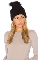 Heartloom Julie Beanie With Raccoon Fur Black