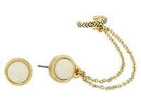 House Of Harlow Coronado Double Chain Ear Cuff Earrings Gold Earring