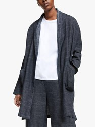 Eileen Fisher Denim Longline Coat Indigo
