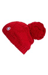Canada Goose Women's Pom Merino Wool Beanie Red Redwood