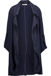 Kain Label Ludlow Tie Dyed Crepe Jacket Midnight Blue