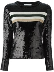 Aviu Sequin Embellished Jumper Black