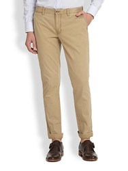 J. Lindeberg Chaze Slim Fit Cotton Pants Beige