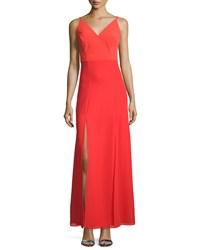 Phoebe Couture Sleeveless Double Slit A Line Gown Women's