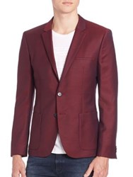 Hugo Boss Two Button Wool Blazer Red
