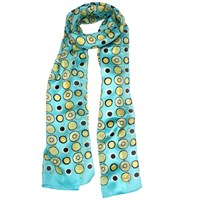 Dents Ladies Spot Print Scarf Turquoise