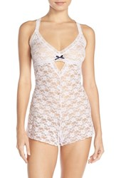 Women's Honeydew Intimates 'Mia' Open Gusset Lace Teddy Ski Bunny