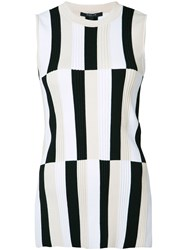 Derek Lam Striped Panel Tank Top White