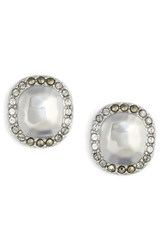 Judith Jack Jewel Stud Earrings Silver