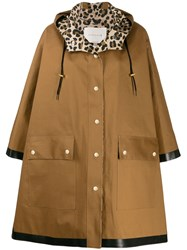 Mackintosh Oversized Parka Coat Brown