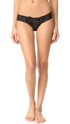 Hanky Panky Lace Up Low Rise Thong Black