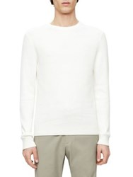 Theory Hilbet Crewneck Sweater Off White Eclipse