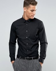 Esprit Stretch Fit Shirt Black