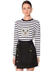 Loewe Cat Striped Wool Knit Sweater