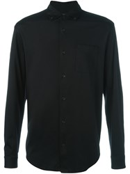 Ermenegildo Zegna Chest Pocket Shirt Black