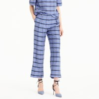 J.Crew Collection Cropped Pant In Yarn Dyed Silk