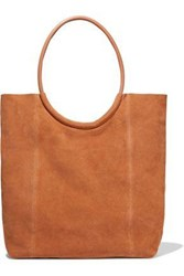 Iris And Ink Woman Iata Leather Trimmed Suede Tote Tan
