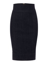 Linea Denim Pencil Skirt Navy