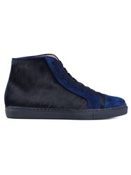 Thakoon Addition Panelled Hi Top Sneakers Blue