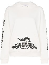 Givenchy Logo Cotton Hoodie Neutrals