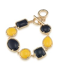 1St And Gorgeous Multi Shape Flex Toggle Bracelet Dark Blue Yellow Dark Blue And Yellow