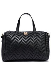M Missoni Woman Quilted Faux Leather Shoulder Bag Black