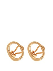 Charlotte Chesnais Naho Gold Plated Clip On Earrings Pink Gold