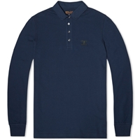 Barbour Heritage Long Sleeve Standard Polo Navy