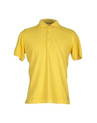 Original Vintage Style Topwear Polo Shirts Men Yellow