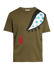 J.W.Anderson Doll Eye Print Cotton T Shirt Green Multi