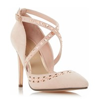 Head Over Heels Cosmos Embellished Cut Out Court Shoe Nude