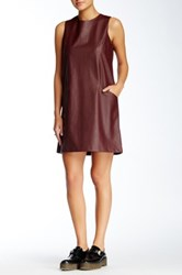 Jack Orsino Faux Leather Dress Pink