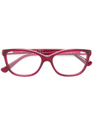 Tommy Hilfiger Square Glasses Red