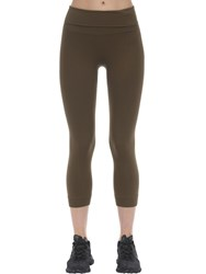 Falke Short Technical Yoga Tights Olive Green