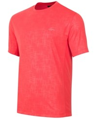 Greg Norman For Tasso Elba Men's Embossed Performance T Shirt Hyper Coral